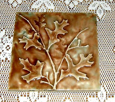 Two Trent Fireplace Tiles  6 X 6 Leaf Design