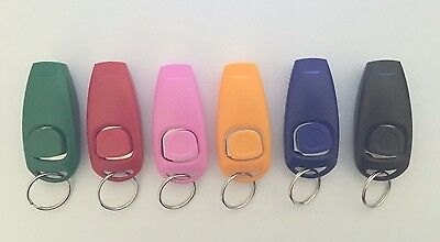 Pet Dog Whistle / Clicker Training Obedience Aid, Various Colours