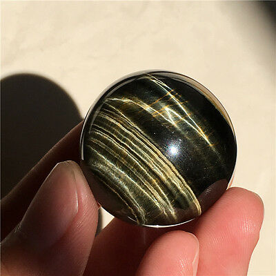 37g  30mm  Natural Tiger eye Crystal Sphere Ball #4316