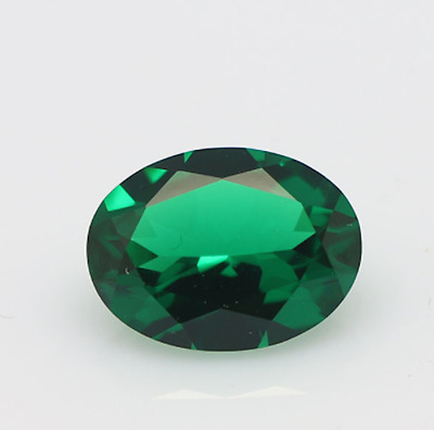 Lab-Created Synthetic Emerald Green Nano Crystal Oval Loose Stones (4x3-40x30mm)