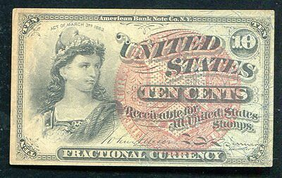Ten Cents Fourth Issue Fractional Currency Note Xf+