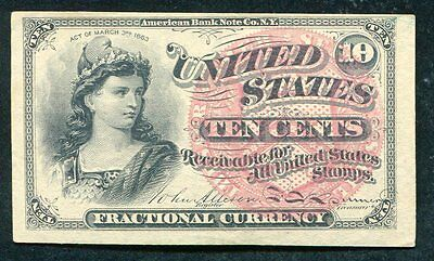 Ten Cents Fourth Issue Fractional Currency Note About Unc (D)