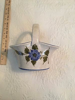 Lovely Floral Basket made in Italy.  Approx. 8 inches tall.