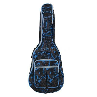 """NEW 41"""" Acoustic Guitar Double Straps Padded Guitar Soft Case Gig Bag Backpack"""