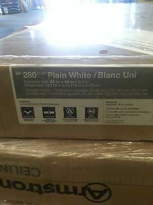Armstrong Plain White Smooth White Ceiling Tile 2' X 4' Panel