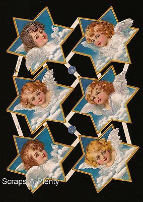 German Vintage Style Embossed Scrap Die Cut -  Easter / Christmas Angel   EF7439