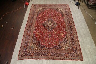 """Traditional Floral 10x13 Kashan Persian Area Rug Oriental Carpet 13' 3"""" x 9' 7"""""""
