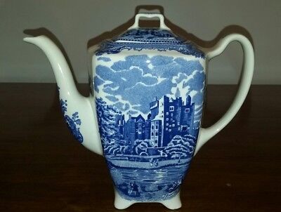 Johnson Brothers Old Britain Castles Blue & White Tall Coffee Pot