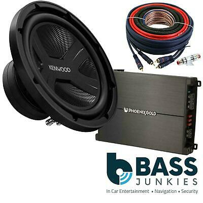 """KENWOOD 10"""" 1300 Watts Sub with 2 Channel Amplifier & Amp Kit Bass Package"""