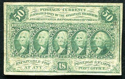 Fr. 1312 50 Fifty Cents First Issue Fractional Currency Note
