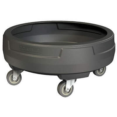 CORTECH Polyethylene Container Dolly,Fits 55 gal., DCCL, Black