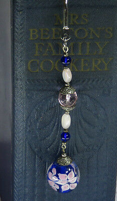 Handmade  Beaded  Silver Large Bookmark Gift Idea