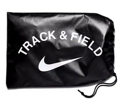 NEW NIKE Track Field Running Sprint Spikes Shoes Carrying Nylon Bag Black