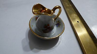 Vintage Small Miniature Porcelain Victorian Pitcher and Water Basin Bowl Japan