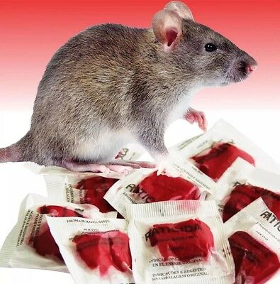 Rat Poison 10 Red Pasta Bait Packs This Stuff Really Works Kills Rats & Mice