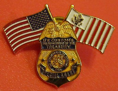 Department Of The Treasury - U.s. Customs Service - Special Agent Badge Pin