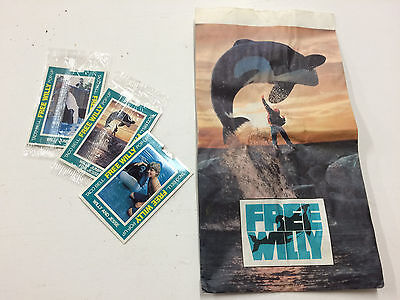 Super Rare Collectible Taco Bell Free Willy Bag & 3 Pop-Up Cards