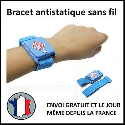 Bracelet Antistatique Electricite Statique Decharge Electronique Terre Masse Tsf