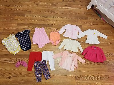 Lot of 6 months baby girl clothes  14 pieces