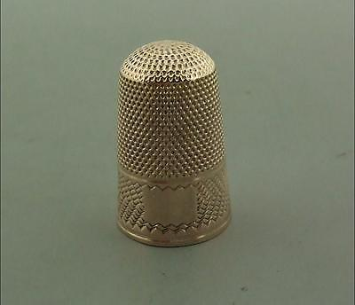 ANTIQUE 14ct GOLD THIMBLE VERY GOOD 3.3 GMS
