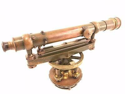Antique Brass Simplex Surveyor's Level Scope Telescope Transit
