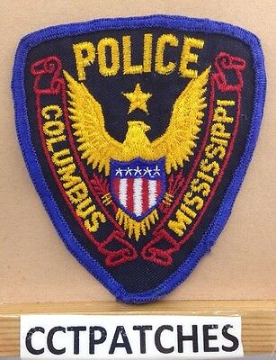 Columbus, Mississippi Police Stock Eagle Shoulder Patch Ms