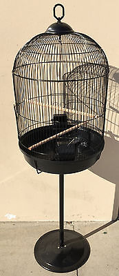 NEW Round Dome Bird Cage Finch Canary Cockatiel Parakeet Bird Cage W/Stand 367