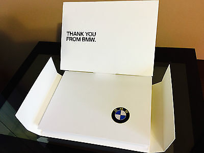 Rare ! BMW Thank You Welcome Package Kit 2015 BMW Owner on BMW Logo USB.