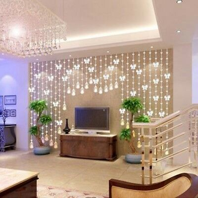 Crystal Glass Bead Window Curtain Luxury Living Room Bedroom Door Wedding Decor