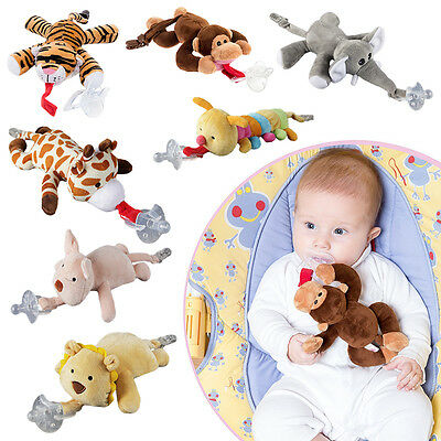 New Creative Infant Baby Soothie Dummy Pacifier with Funny Cuddly Plush Animal