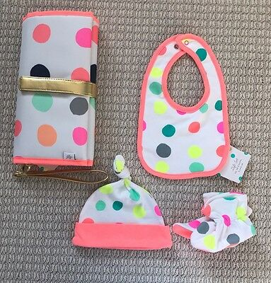 Oh Joy! for Target Baby Bib, Booties, Hat, AND Changing Clutch Gift Set-NEW!