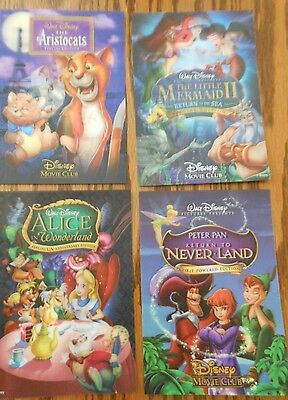 Lot of 4 Disney Movie Club Lenticular 3 D Collector Cards