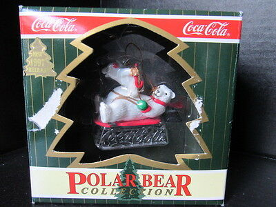 1997 Coca-Cola Polar Bear Collection Ornament New in Box