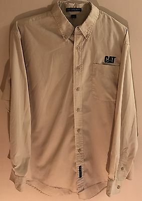 Caterpillar Tractor Long Sleeve Dress Shirt Size Large