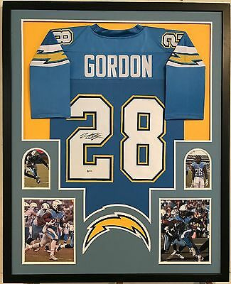 MELVIN GORDON AUTOGRAPHED Signed Jersey Framed San Diego Chargers ... 6e1802b59