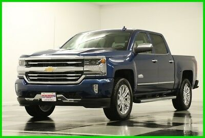 2017 Chevrolet Silverado 1500 MSRP$60015 4X4 High Country DVD GPS Blue Crew New Navigation Heated Cooled Leather Seats 16 2016 17 Cab 5.3L V8 Chrome Rims