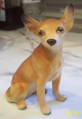 Vintage Porcelain Ceramic Pottery Darling Little Chihuahua Dog Figurine