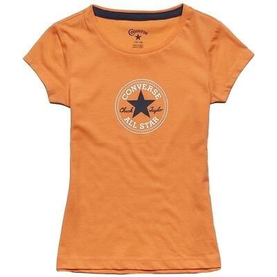 CONVERSE enfant : CT Patch filles Tee-shirt Nectarine - 72201-246