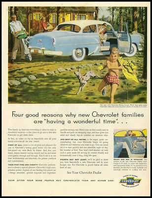 1954 vintage ad for Chevrolet automobiles