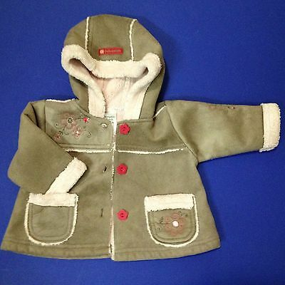 Pumpkin Patch - Baby Girl's Hooded Winter Outer Jacket - Size 3-6 months