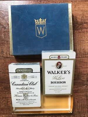 Vintage Double Deck Canadian Club & Walker's Playing Cards Deck - SEALED