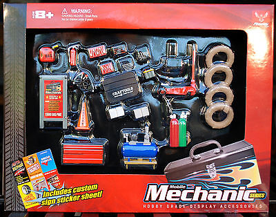 Hobby Gear 1:24 Scale Mobile Mechanic Series Diorama Set for Diecast Model Toys