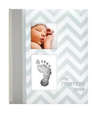 Baby Memory Book Infant Girl Boy Milestone Keepsake Record Album Gift Photo Grey