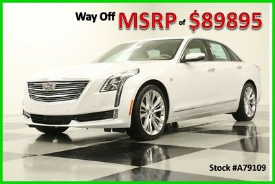 2017 Cadillac Other CT6 MSRP$89895 AWD Platinum DVD Sunroof White Crystal Tricoat Tan Leather 3.0L Twin Turbo Magnetic Ride 20 Inch Wheels 17 Whee