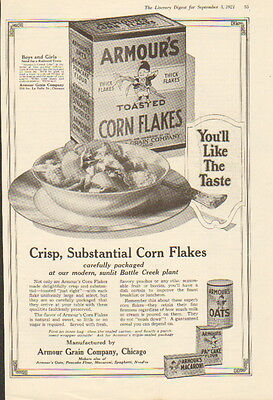 1921 Armour's Corn Flakes cereal ad ---thick Flakes-/723