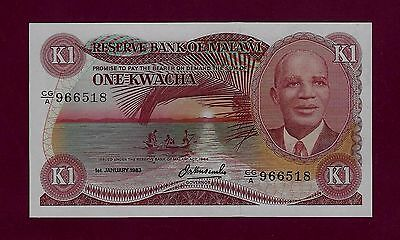 MALAWI 1 KWACHA 1964 - 1983  P-14 UNC ( WEST Africa EAST EQUATORIAL )