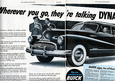 1948 Buick Car Ad -Buick Dynaflow--2 Page ad 21 x 13 Inches ---v164