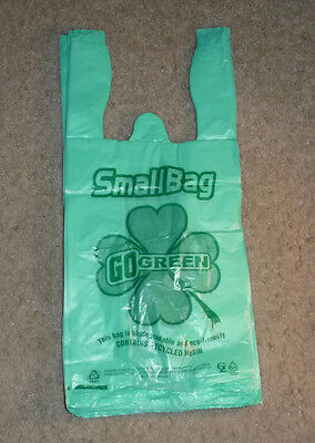 Small Plastic Bags Biodegradable Green 6 x 3 x 13