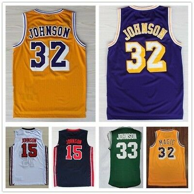 "Earvin ""Magic"" Johnson Jersey # 32, Top-Qualität genäht Basketball ALLE TEAMS LA"