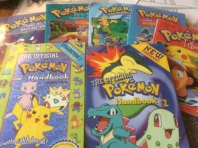 Lot of 7 Pokemon books, including 2 Handbooks, Activity and more